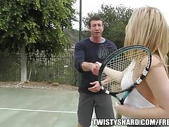 Big booty blond gets fucked after tennis
