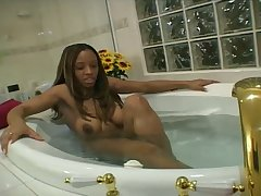 Amazing busty black hottie Ayana Angel wanna enjoy some sex with beam