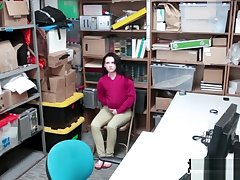 Horny Office-holder Questioning A Teen Bitch Up His Wiener