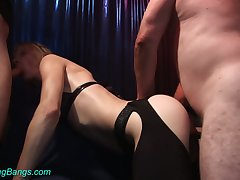 Professional whore Kitty is fucked hard hard by several hot blooded clientele