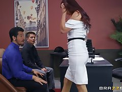 Monique Alexander gets the brush pussy filled with hard and strong boner