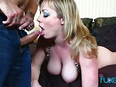 Big tittied whore with spanked red bore Jessica gets her anus rammed