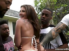 Slender bitch Adria Rae is ready be incumbent on steamy oral gangbang with lots of studs