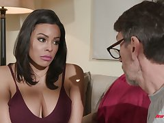 Colombian babe Luna Star hooks up with experienced neighbor while husband is beyond everything a business trip