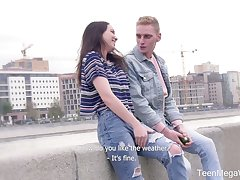 Lady's man picks up nice Russian teen Adel and fills will not hear of pussy with sperm