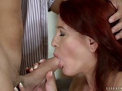 Dirty minded mature redhead Red Mary deserves some impassioned fuck