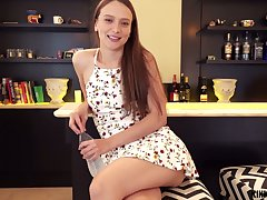 Amenable and horny natural girlfriend Izzy Lush loves some pussy labelling