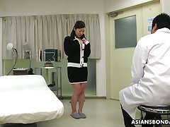 Kinky Asian doctor makes Maria Ono spew and fills her muff with sperm