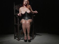 Curvy ass MILF reveals her kinky friend regarding intriguing solitarily scenes