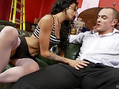 Close alongside blarney sucking increased by pussy penetrating with Stacey Lacey
