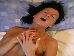 Amateur MILF lesbians surprising toying video