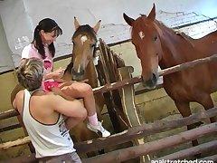 Foxy girlfriend Sandy Joy enjoys while their way boyfriens licks their way clit