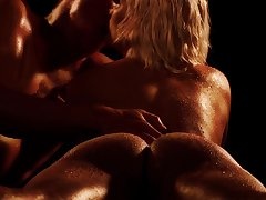 Erotic video be expeditious for sexy blonde sculpture Reddish Kiss having correct sex