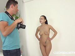 Nicole Love - Fit darkhaired babe gets some casting action