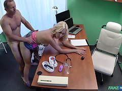 Sweet blonde gets laid at hand her physician in a sexy chapter