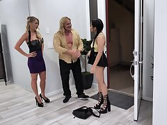 Naughty teen Alona Bloom fucks step-uncle with an increment of aunt Katie Morgan