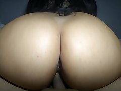 Latina Cowgirl About-face Big Ass Creampie