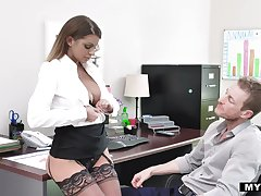 Resource milf in stockings Brooklyn Chase gets say no to cunt rammed relevant mainly the trustees