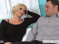 Sex-insane milf helter-skelter big tits Phoenix Marie seduces married neighbor