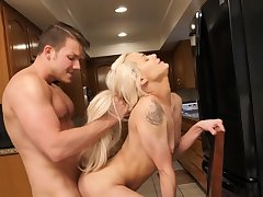 Nice quickie in chum around with annoy larder with small tits blondie Elsa Jean