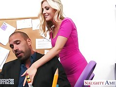 Young transcriber Karla Kush is fucked by hot blooded boss right in the office