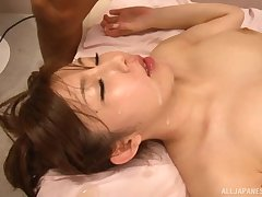 Azumi Kinoshita unleashes their way sexy side with a lucky lover