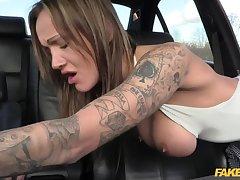 Anal slut gets policewoman cum in the brush butt
