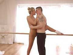 Ballerina creamed like a whore after insane sex