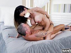 MILF rides cock apropos potent intimacy at house