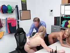 Blonde woman and stepdaughter punished by cock for defrauding