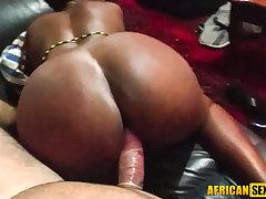 Starting my African trip inside an ebony slut