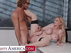 Naughty America: Casca Akashova helps take heed be worthwhile for say no to student's boner by taking his cock on PornHD